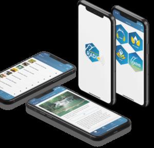 Positivity Radio App on mobile phone