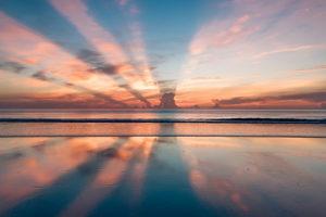 Calm beach scenes